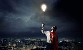 Brave superhero Stock Images