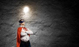 Brave superhero Royalty Free Stock Photo