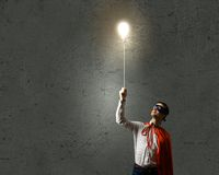 Brave superhero Royalty Free Stock Images