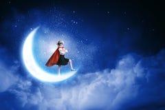 Brave superkid Royalty Free Stock Photo
