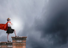 Brave superkid Stock Photo