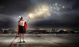 Brave superkid Royalty Free Stock Image