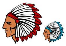 Brave tomahawk mascot Stock Photo