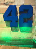 Braves Tribute to Jackie Robinson Stock Photo