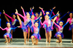 Bravo, dzieciaka Belarussian konkurs na choreografii Fotografia Royalty Free