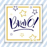 Bravo Hand Lettering Royalty Free Stock Photography