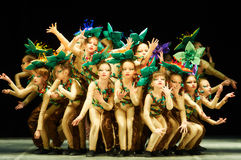 Bravo, kids Belarussian contest on choreography royalty free stock photo