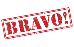 Bravo! red stamp Royalty Free Stock Photography
