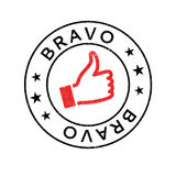 Bravo rubber stamp Royalty Free Stock Photography