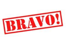 BRAVO! Rubber Stamp Royalty Free Stock Photos