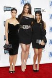 2009 Bravo`s A-List Awards. Kim Kardashian, Khloe Kardashian and Kourtney Kardashian at the 2009 Bravo`s A-List Awards held at the Orpheum Theatre in Los Angeles Royalty Free Stock Photography