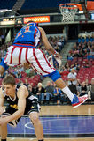 Brawley. SACRAMENTO, CA - January 15: Brawley \Cheese\ Chisholm with the Harlem Globetrotters competes against  the International Elite at Power Balance Pavilion Royalty Free Stock Image