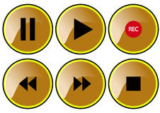 Braun buttons Royalty Free Stock Images