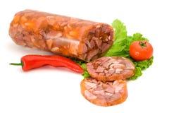 Brawn e fatias da carne de porco imagens de stock