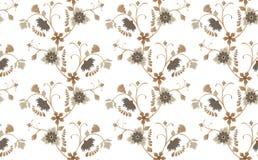 brawn floral άνευ ραφής απεικόνιση αποθεμάτων