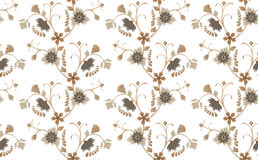 Brawn floral seamless Stock Image