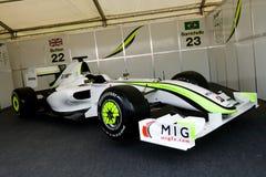 brawn GP αγώνας αυτοκινήτων f1 Στοκ Εικόνες