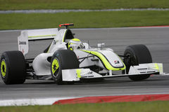 Brawn GP F1 Team Jenson Button 2009. Jenson Button of Brawn GP F1 Team during practice session in Sepang in march 2009 Stock Photography