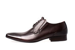 The brawn man's shoes isolated Royalty Free Stock Photos
