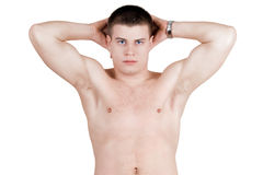 Brawny young man Royalty Free Stock Images