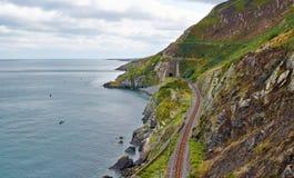Bray Cliff Walk Arkivbild