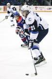 Brayden Schenn em um jogo de WHL Fotografia de Stock