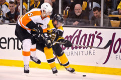 Braydon Coburn and Brad Marchand Stock Photography