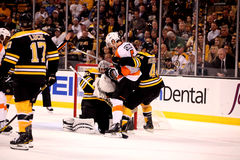 Braydon Coburn and Tim Thomas Royalty Free Stock Photos