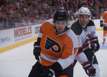 Braydon Coburn Travis Zajac Stock Photography