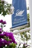 Brayford水池,林肯,林肯郡,英国看法- 库存照片