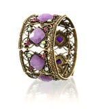 Brazalete púrpura de la piedra preciosa Imagenes de archivo