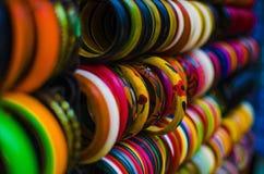 Brazaletes coloridos Imágenes de archivo libres de regalías
