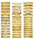 Brazaletes de oro Fotos de archivo