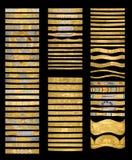 Brazaletes de oro Fotografía de archivo libre de regalías