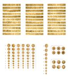 Brazaletes de oro Foto de archivo