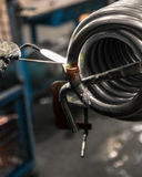 Braze welding process. Royalty Free Stock Photography