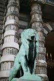 Brazen lion. Louvre Royalty Free Stock Photo