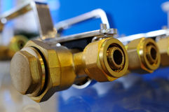 Brazen valves Royalty Free Stock Images