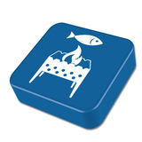 Brazier grill with fish icon Stock Image