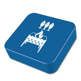 Brazier grill with fish icon Royalty Free Stock Photos