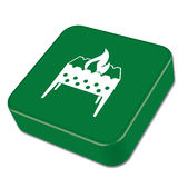 Brazier icon on the button. Vector illustration Royalty Free Stock Image