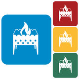 Brazier icons set Stock Photo