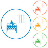 Brazier icons set Royalty Free Stock Photo