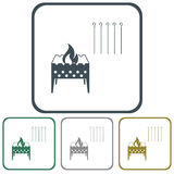 Brazier icons set Royalty Free Stock Photos