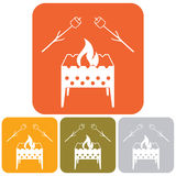Brazier and zephyr icon. Vector illustration Royalty Free Stock Photography