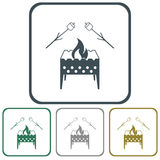Brazier and zephyr icon. Vector illustration Stock Image
