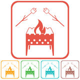 Brazier and zephyr icon. Vector illustration Stock Photo