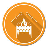 Brazier and zephyr icon. Vector illustration Stock Photography