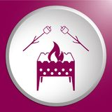Brazier and zephyr icon. Vector illustration Stock Photos