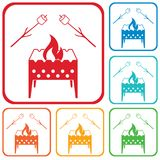 Brazier and zephyr icon. Vector illustration Royalty Free Stock Images